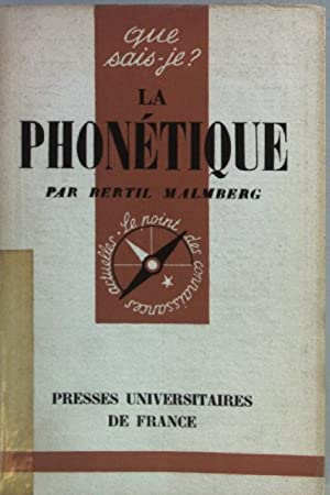 La phonétique. Que sais-je? No. 637;