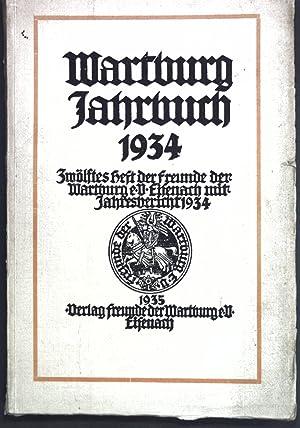 Der Wartburgkrieg; in: Wartburg Jahrbuch 1934, Zwölftes