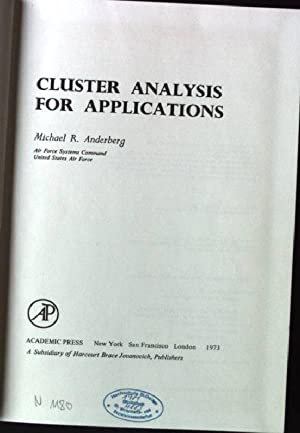 Cluster Analysis for Applications Probability & Mathematical: Anderberg, Michael R.: