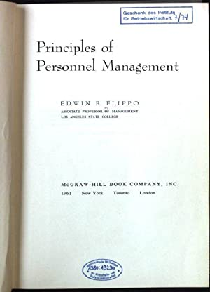 Principles of Personnel Management: Flippo, Edwin B.: