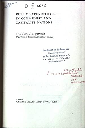 Public Expenditures in Communist and Capitalist Nations: Pryor, Ferderic L.: