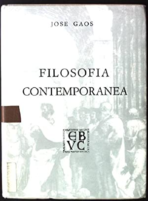 Filosofia Contemporanea: Gaos, Jose: