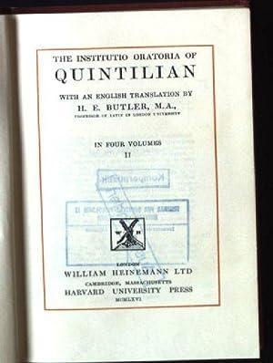The Institutio Oratoria of Quintilian, Volume II: Butler, H.E.: