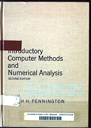 Introductory Computer Methods and Numerical Analysis: Pennington, Ralph H.:
