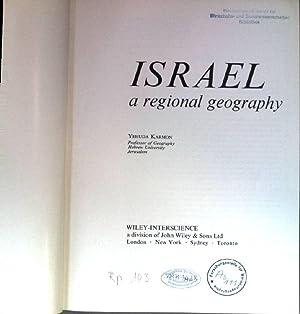 Israel a regional geography.: Karmon, Yehuda: