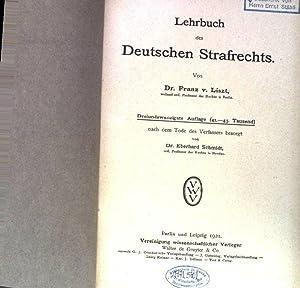 Lehrbuch des Deutschen Strafrechts.: Liszt, Franz v.: