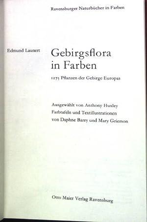 Gebirgsflora in Farben: 1275 Pflanzen der Gebirge: Launert, Edmund: