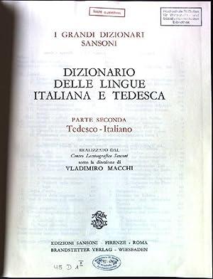 Wörterbuch der Italienischen und Deutschen Sprache, zweiter: Macchi, Vladimiro: