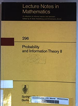 Probability and Information Theory II. Lecture Notes: Behara, M.: