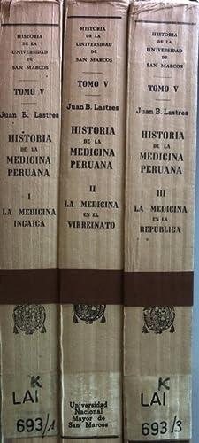 Historia de la Medicina Peruana (3 vols.cpl./: Lastres, Juan B.: