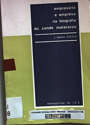 Empresario e empresa na biografia do conde: Martins, J. Souza:
