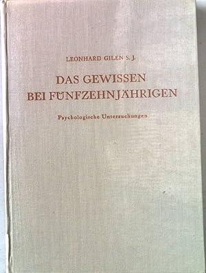 Das Gewissen bei Fünfzehnjährigen. Psychologische Untersuchungen. Archiv für Psychologie der Arbeit...