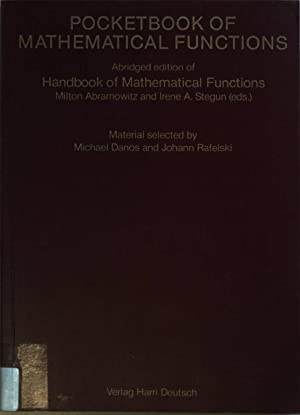 Pocketbook of Mathematical Functions.: Abramowitz, Milton and