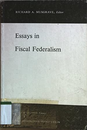 an essay on fiscal federalism