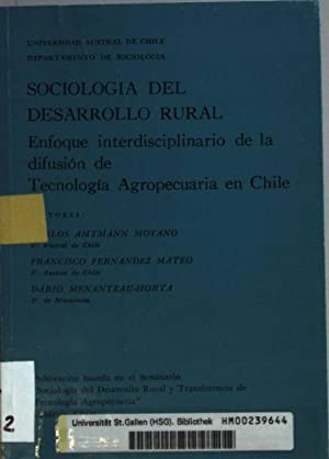 Sociologia del desarrollo rural: enfoque interdisciplinario de: Moyano, Carlos Amtmann