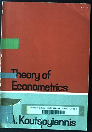 Theory Of Econometrics Koutsoyiannis Pdf