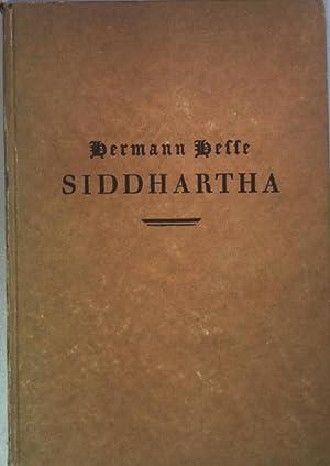 Siddhartha: eine indische Dichtung.: Hesse, Hermann: