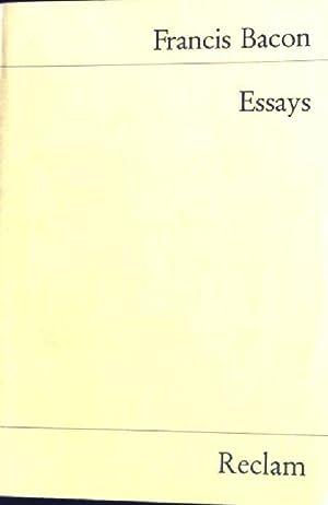 Essays oder praktische und moralische Ratschläge. Universal-Bibliothek: Bacon, Francis: