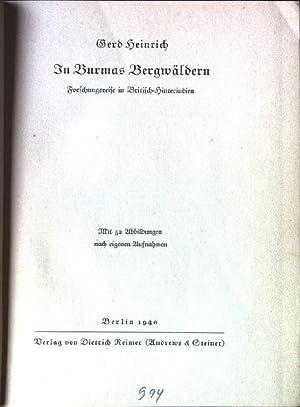 In Burmas Bergwäldern.: Heinrich, Gerd: