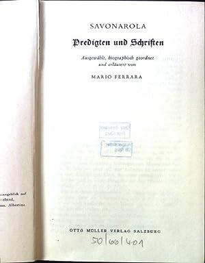 Predigten und Schriften. Reihe Wort und Antwort,: Ferrara, Mario: