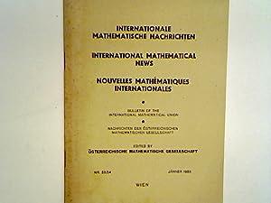 Internationale Mathematische Nachrichten Nr. 53/54: Österreichische Mathematische Gesellschaft: