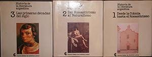 Historia de la literatura argentina (3 tomos/