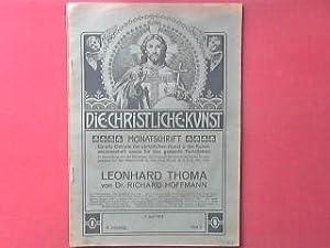 Leonhard Thoma. Zum fünfzigsten Geburtstage des Künstlers.: Hoffmann, Richard: