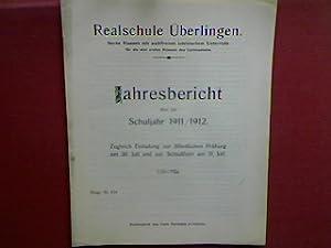 Schulnachrichten. - in : Realschule Überlingen - Jahresbericht über das Schuljahr 1911/1912 - ...