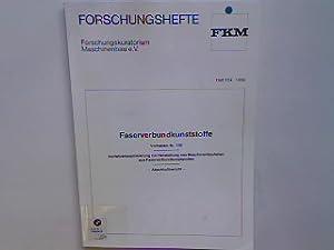 Faserverbundkunststoffe : Vorhaben Nr. 109 : Verfahrsoptimierung: Forschungskuratorium Maschinenbau e.V.: