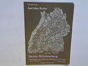 Verzeichnis der amtlichen Karten des Landes Baden-Württemberg: Landesvermessungsamt Baden-Württemberg (Hrsg.):