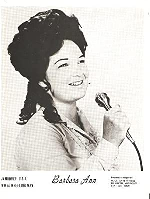 PROFESSIONAL PHOTOGRAPH OF BARBARA ANN: Country & Western performer.