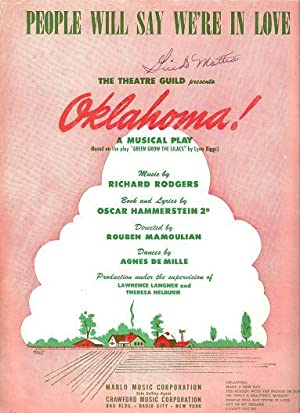 Sheet music (1) from this Broadway show.: OKLAHOMA.