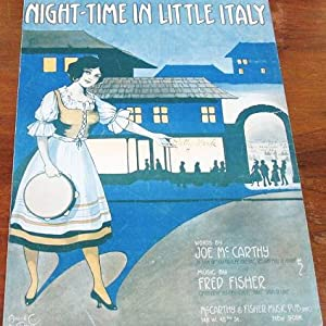 NIGHT-TIME IN LITTLE ITALY; Words by Joe: Night-time.sheet music