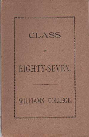 STATISTICS OF THE CLASS OF EIGHTY-SEVEN, WILLIAMS COLLEGE
