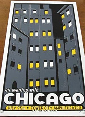 [poster] AN EVENING WITH CHICAGO: July 25th - Tower City Amphitheater in Cleveland, Rock City.
