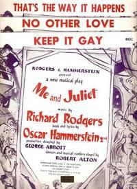Sheet music (3) from this Broadway show.: ME AND JULIET