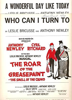 Sheet music (2) from this Broadway show.: ROAR OF THE