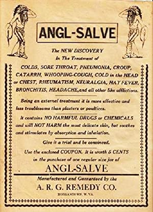 ANGL-SALVE -- The New Discovery. [broadside]:; In: Angl-Salve