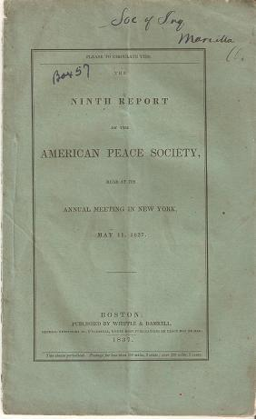 THE NINTH REPORT OF THE AMERICAN PEACE: Ladd, William