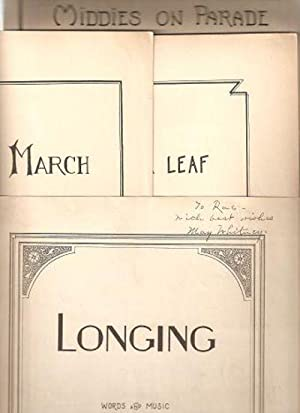 SHEET MUSIC: Group of four: Yankee March, 1929; The Clover Leaf,1932; Middies on Parade, 1934; Lo...
