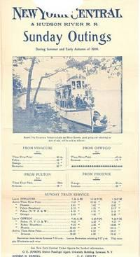 NEW YORK CENTRAL & HUDSON RIVER R.R.; Sunday Outings during Summer and Early Autumn of 1900