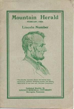 MOUNTAIN HERALD, FEBRUARY 1924: LINCOLN NUMBER.; T.B. Ford, Dean, Editor-in-Chief