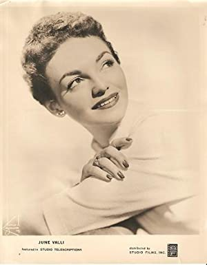 PROFESSIONAL PHOTOGRAPH OF JUNE VALLI, AMERICAN VOCALIST