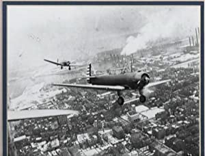 [photograph] TRIBUTE TO THE WRIGHT BROTHERS OVER BOSTON, 1937:;