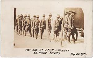 COMPANY G, 18TH PENNSYLVANIA INFANTRY: PAY DAY AT CAMP STEWART, EL PASO, TEXAS, AUG. 23, 1916