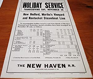 [broadside] HOLIDAY SERVICE - THANKSGIVING DAY, NOVEMBER 26 [1936] - NEW BEDFORD, MARTHA'S VINEYA...