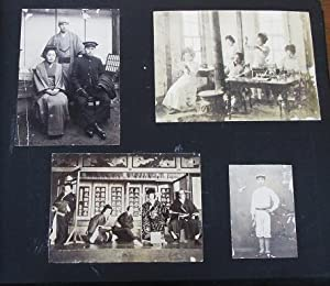 PHOTOGRAPH ALBUM OF 116 PROFESSIONAL IMAGES, MOSTLY FROM MIE-KEN, CIRCA 1895-1925, DURING THE MEI...