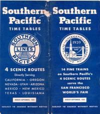TIME TABLES: Four Scenic Routes.; directly serving California, Oregon, Nevada, Utah, Arizona, Mex...