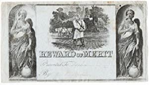 ENGRAVED, PATRIOTIC REWARD OF MERIT