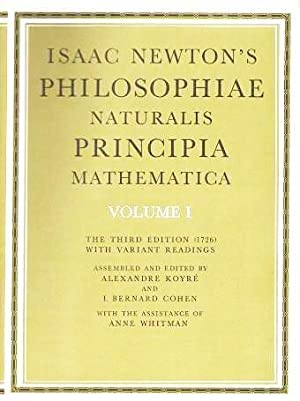 PHILOSOPHIAE NATURALIS, PRINCIPIA MATHEMATICA.; The Third Edition: Newton, Isaac